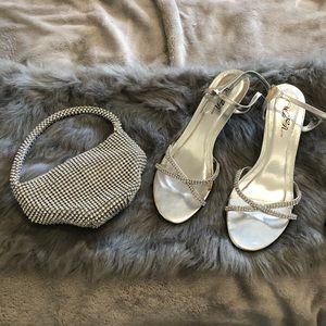 Silver & Rhinestone Evening Wear Accessory bundle